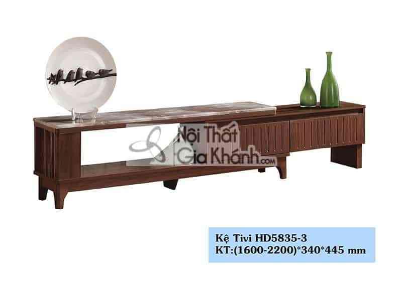 Kệ tivi gỗ công nghiệp hiện đại mặt đá cao cấp từ Trung Quốc HD5835-3 - HD5835 3