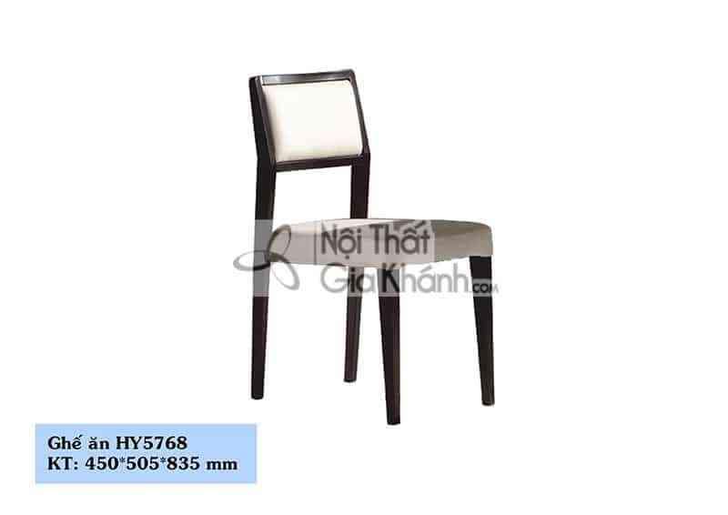 Ghế ăn bọc da chân gỗ màu đen cao cấp HY5768 - HY5768