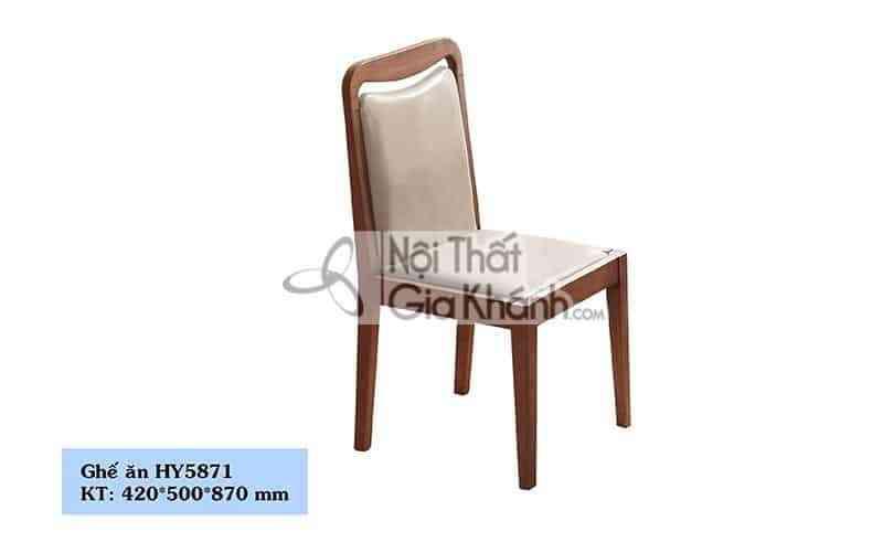Ghế ăn gỗ bọc da phong cách hiện đại HY5871