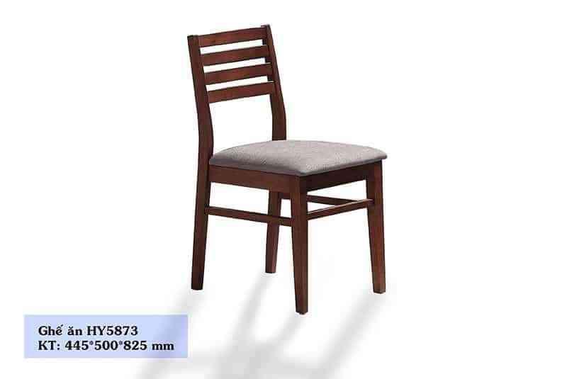Ghế ăn màu nâu gỗ bọc da nhập khẩu cao cấp HY5873