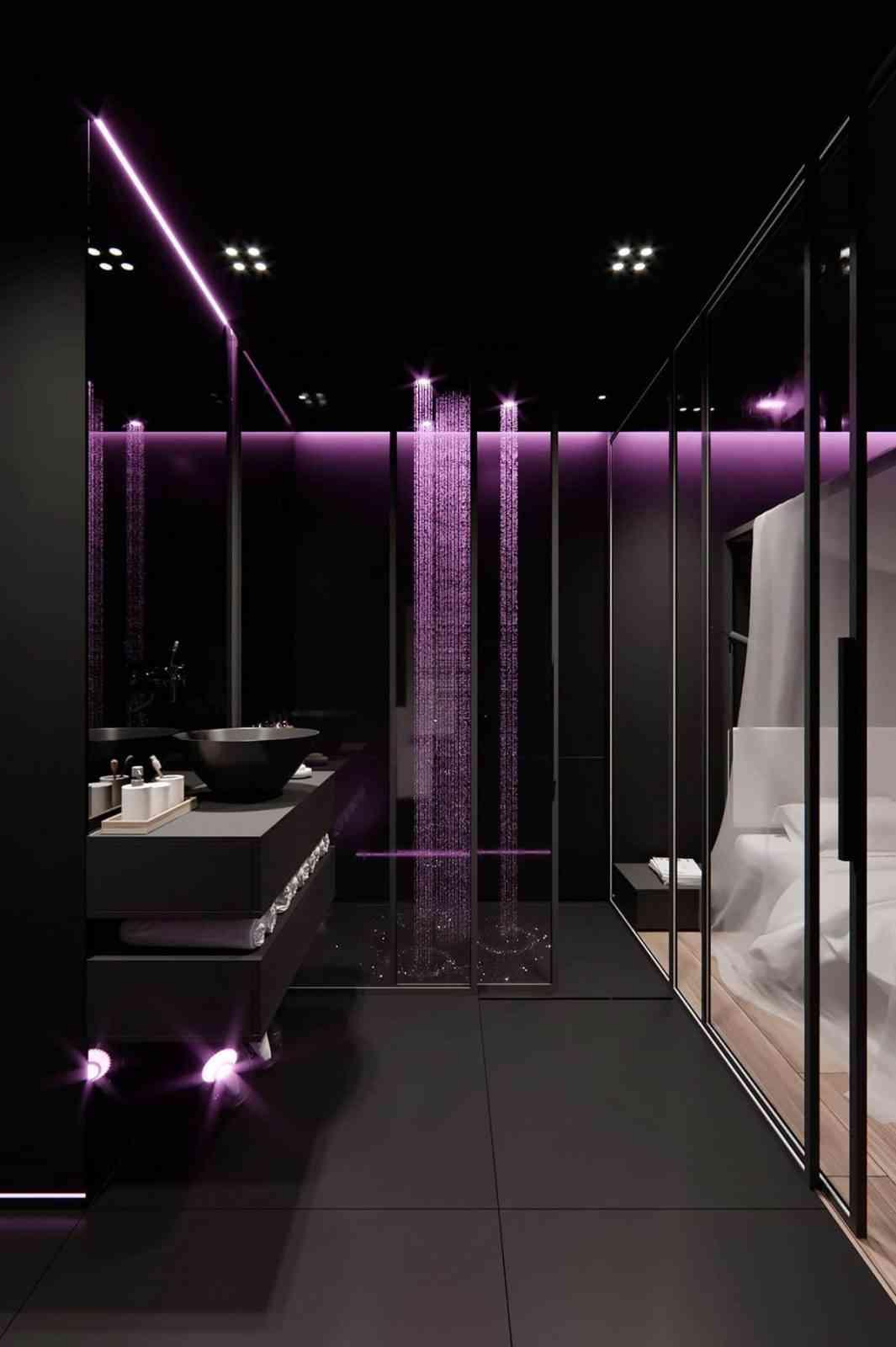 Một số thiết kế nội thất sử dụng màu hồng và xám - Trang trí nội thất màu tối cho căn phòng thêm sang trọng 1