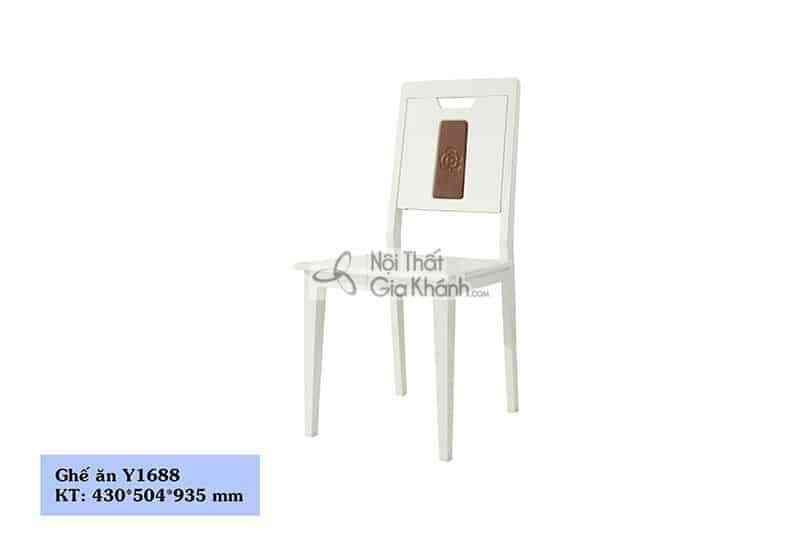 Ghế ăn gỗ màu trắng nhập khẩu Y1688 - Y1688