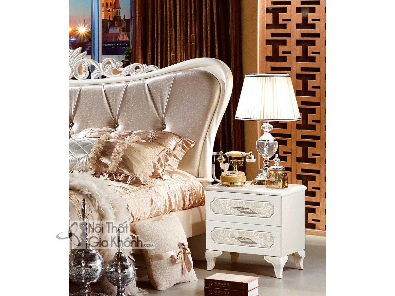 Bộ phòng ngủ tân cổ điển bọc da phong cách Pháp 38631BG - bo phong ngu tan co dien boc da phong cach phap 38631bg 4