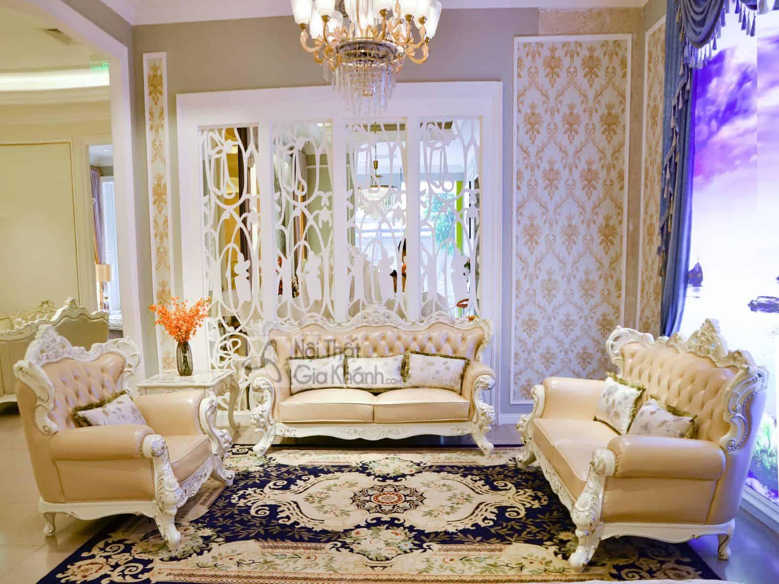 Sofa (salon) tân cổ điển đẳng cấp hoàng gia H963SF - sofa salon tan co dien dang cap hoang gia h963sf
