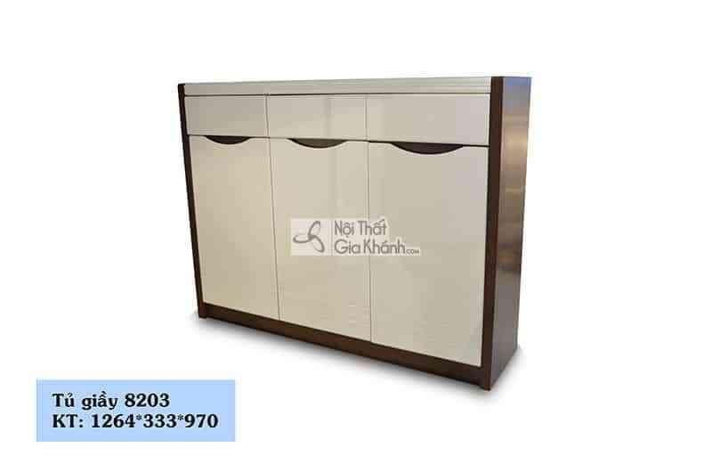 Tủ giày 3 cánh thân gỗ nâu phong cách hiện đại 8203 - tu giay 8203