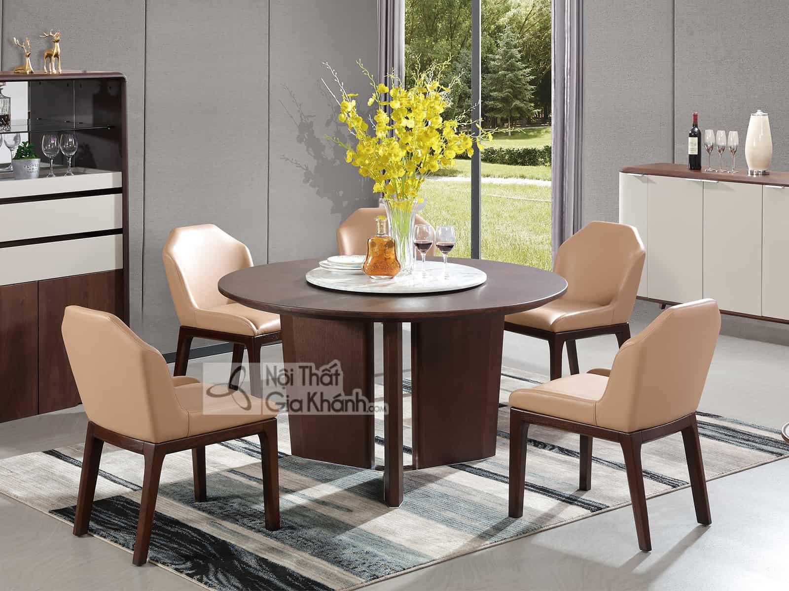 Bộ bàn ăn gỗ hiện đại nhập khẩu 1801BBAT - ban an hien dai mau trang hd963ba
