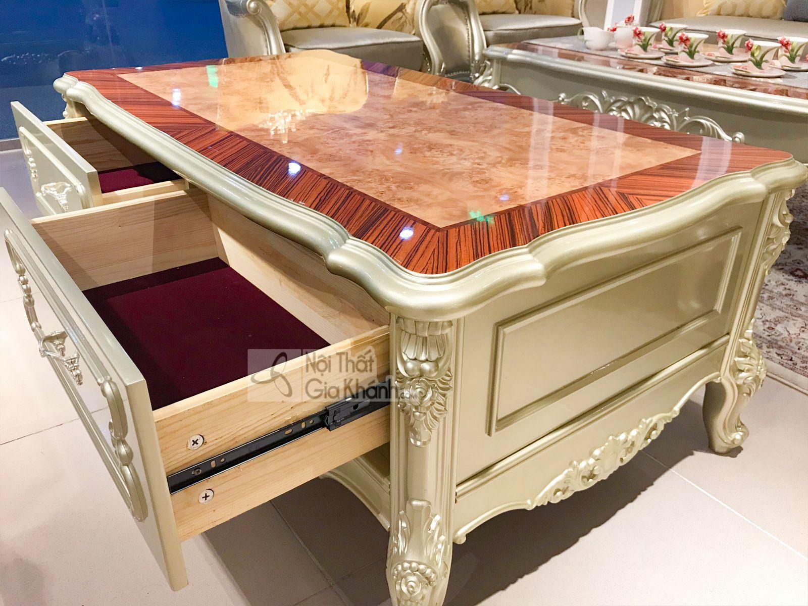 Bàn trà (Bàn sofa) gỗ phòng khách tân cổ điển sang trọng GK8801BT1.4