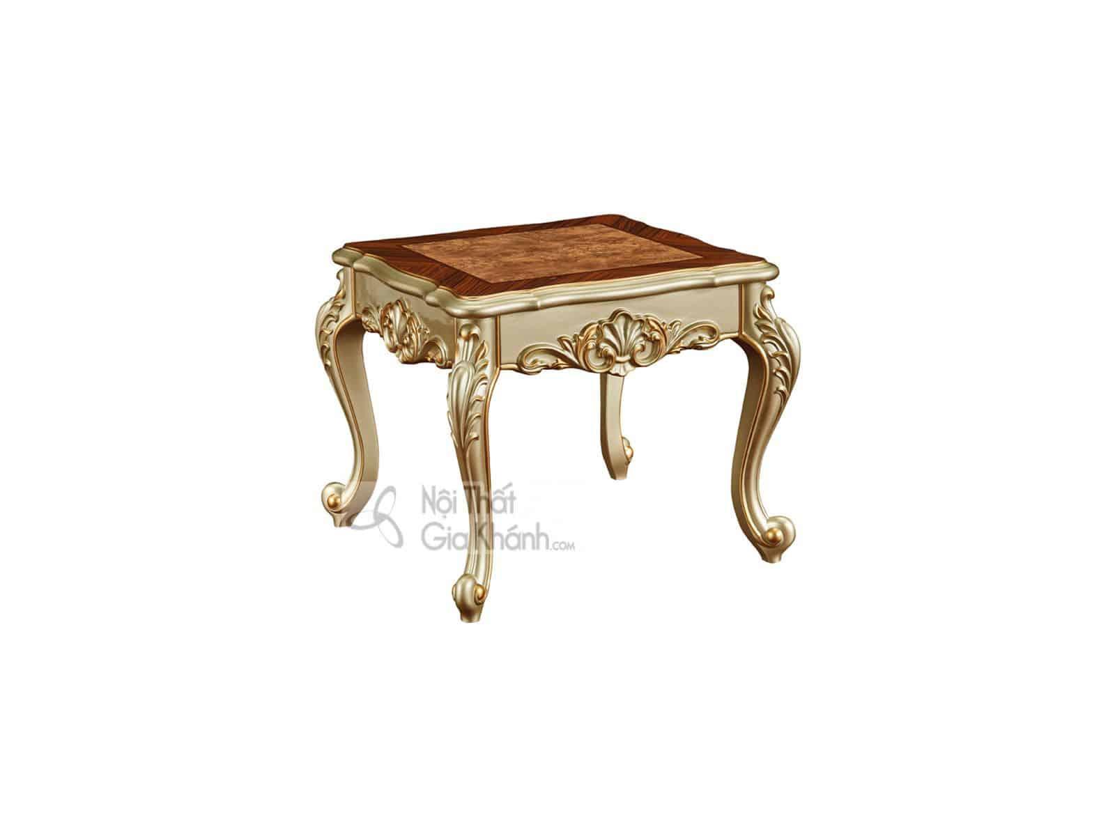Bàn trà vuông tân cổ điển gỗ cho phòng khách BG8801AG (Mẫu mới nhất)