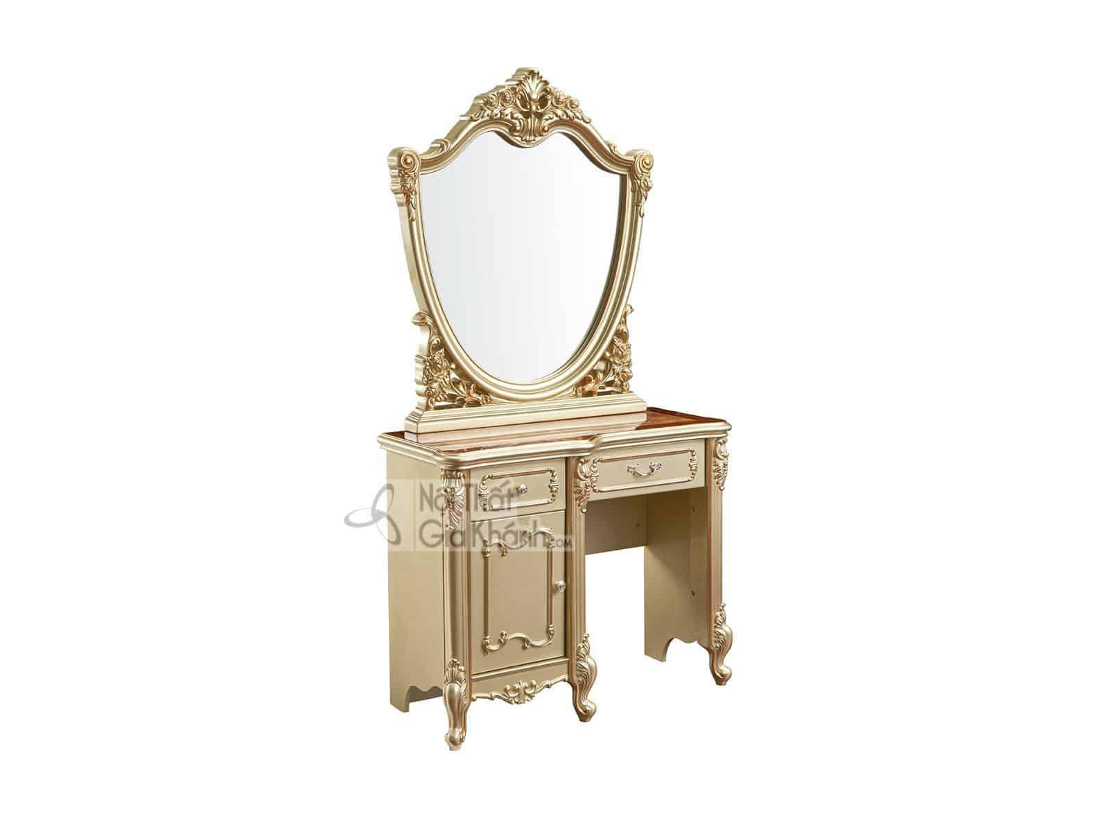 Bộ bàn ghế trang điểm gỗ tân cổ điển BD8802A (Mẫu mới nhất)