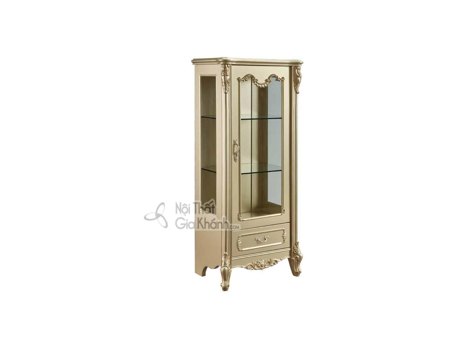 Tủ rượu gỗ 1 cánh trưng bày phòng khách TR8801A-1 (Mẫu mới nhất)