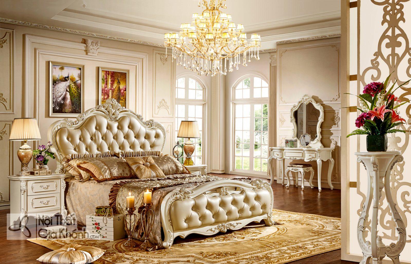 Giường Ngủ Đẹp Phong Cách Tân Cổ Điển GI8816H