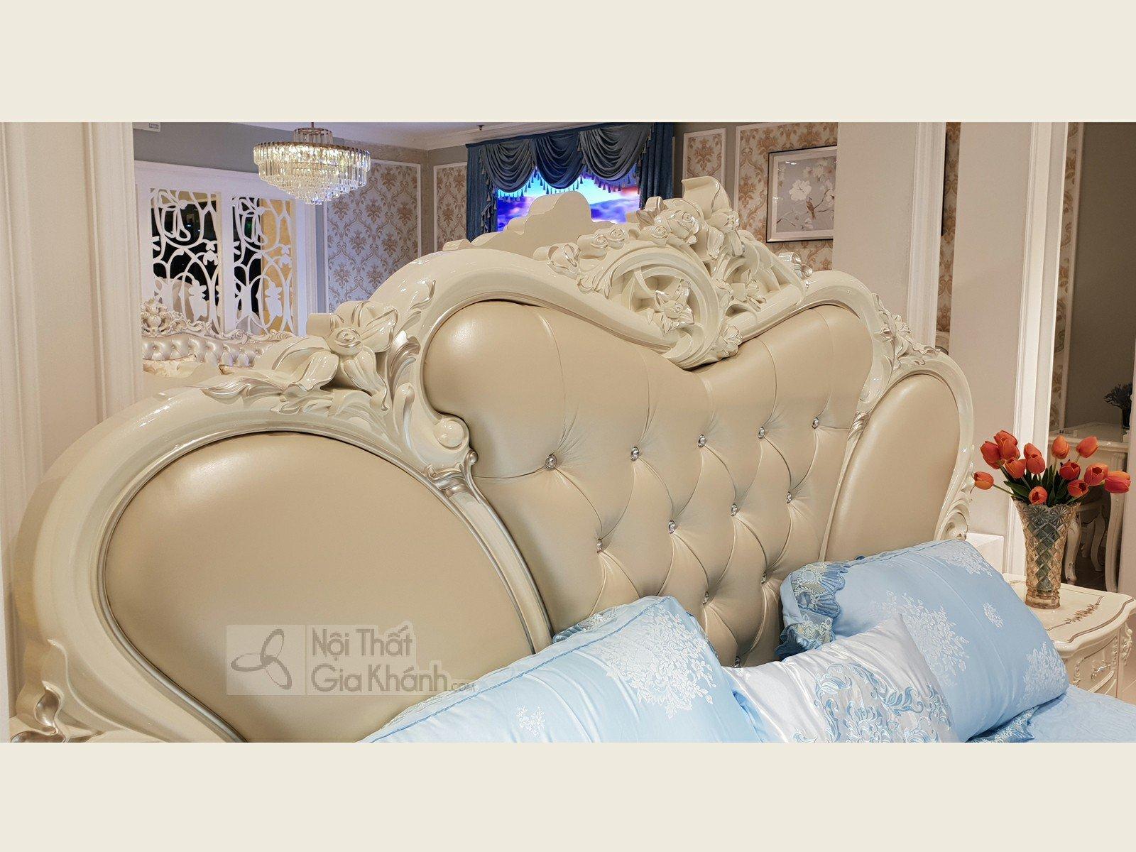Giường Ngủ Tân Cổ Điển Trắng Ngọc Trai GI8811H