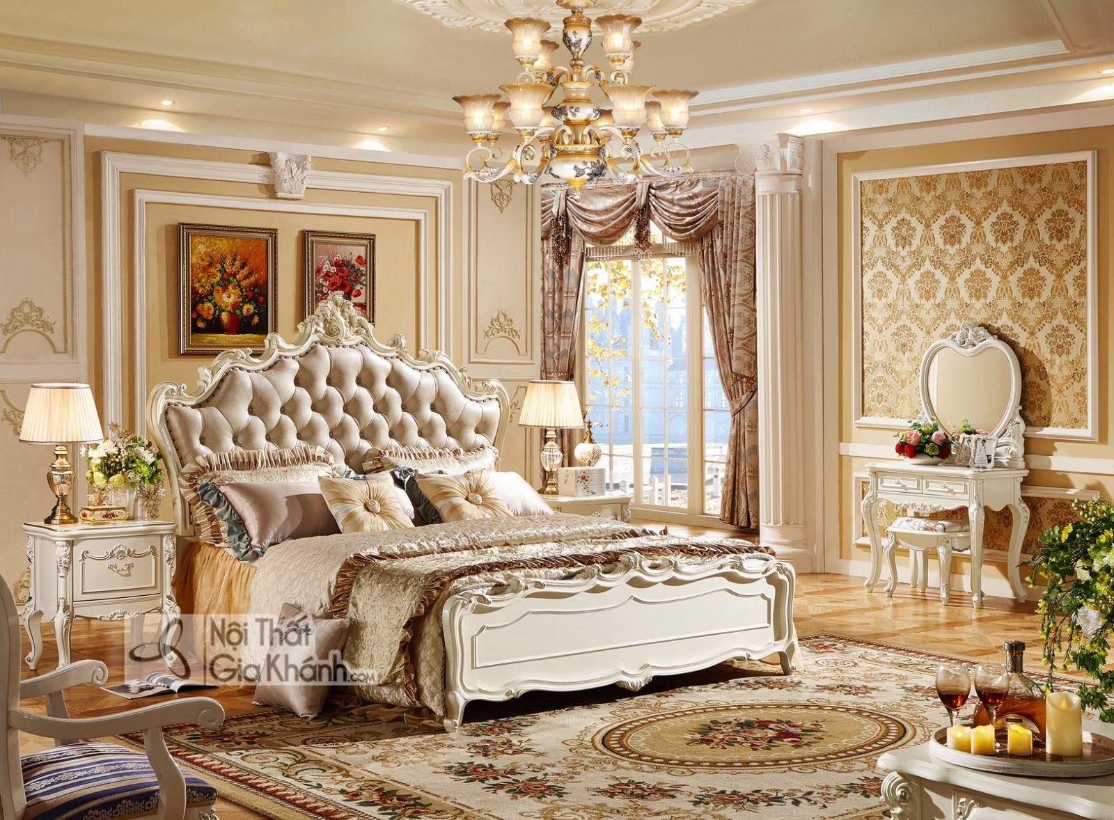Mẫu Giường Ngủ Gỗ Đẹp Hoàng Gia Châu Âu GI8826H