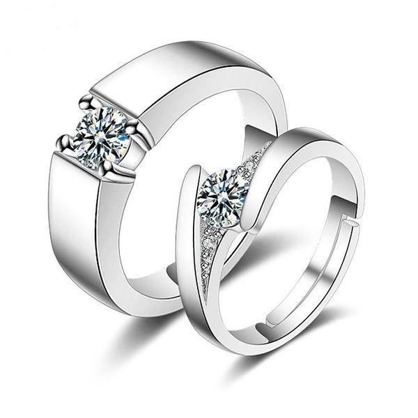 Mẫu nhẫn cưới nam - nư kim cương sang trọng