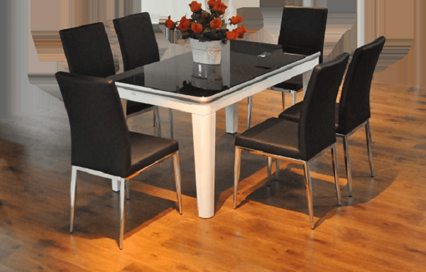 Bộ bàn ăn inox vuông