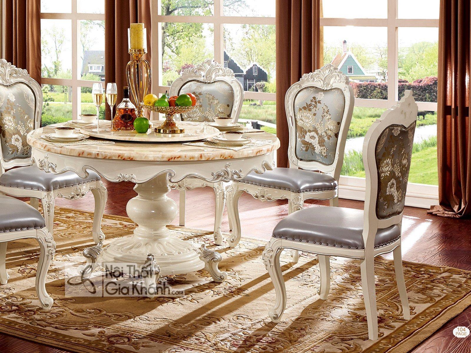 Ghế ăn không tay tân cổ điển gỗ tự nhiên H8803Y-1 - ghe an TCD H8803Y 1