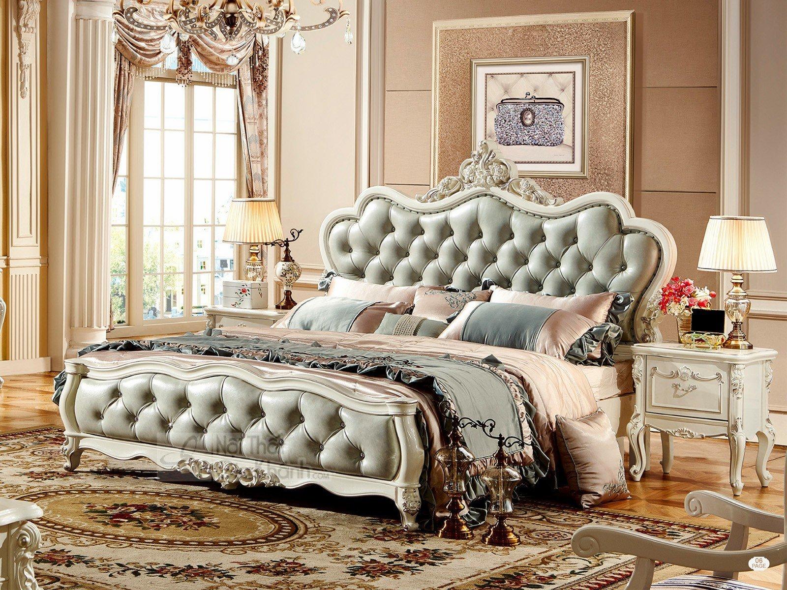 Giường ngủ tân cổ điển H8823AL