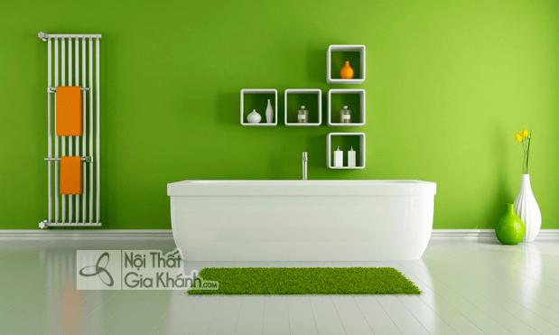 10 mẫu nhà sơn tường màu xanh tươi mát - 10 mau nha son tuong mau xanh tuoi mat 2