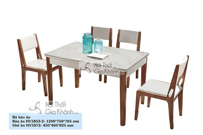 Bộ bàn ăn mặt đá công nghiệp