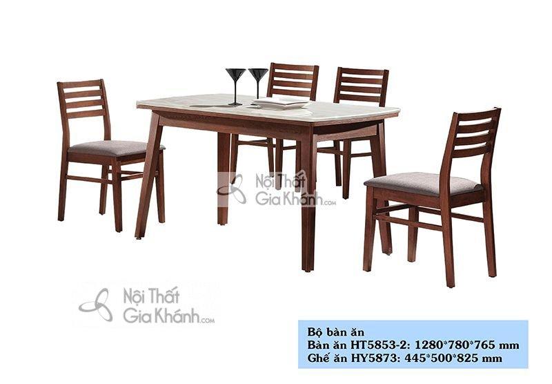 Bộ bàn ăn gỗ đẹp cho gia đình HT5853-2
