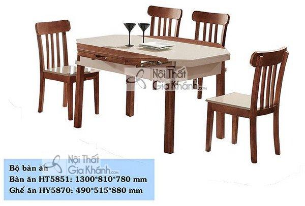 Bàn ăn gỗ nhập khẩu HT5851