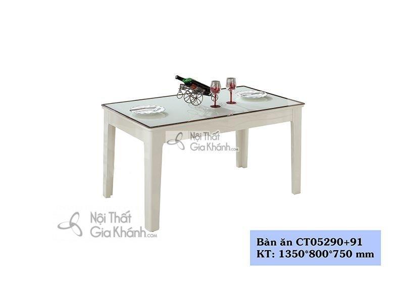 Mẫu bàn ăn gỗ giá rẻ chất lượng cao với 1m35