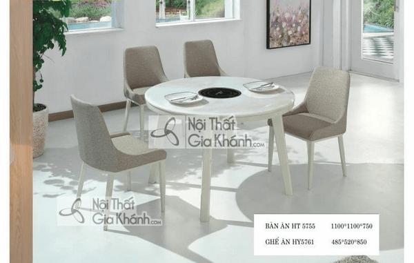 bàn ăn xoay 6 ghế
