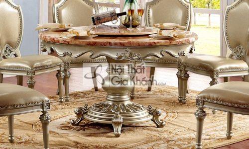 bàn ăn tròn xoay