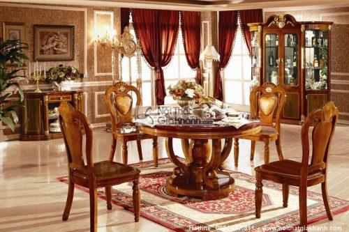 bàn ăn tròn mâm xoay