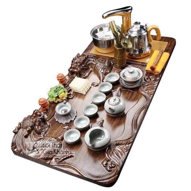 Mẫu bàn trà kiểu Nhật kết hợp bếp điện thông minh - ban tra dien nhat ban 1