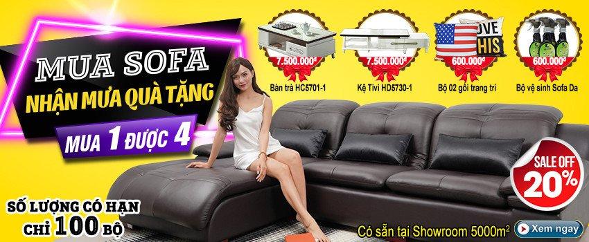 Siêu thị nội thất nhập khẩu top 1 Hà Nội - banner km sofa da 902 919 933 1