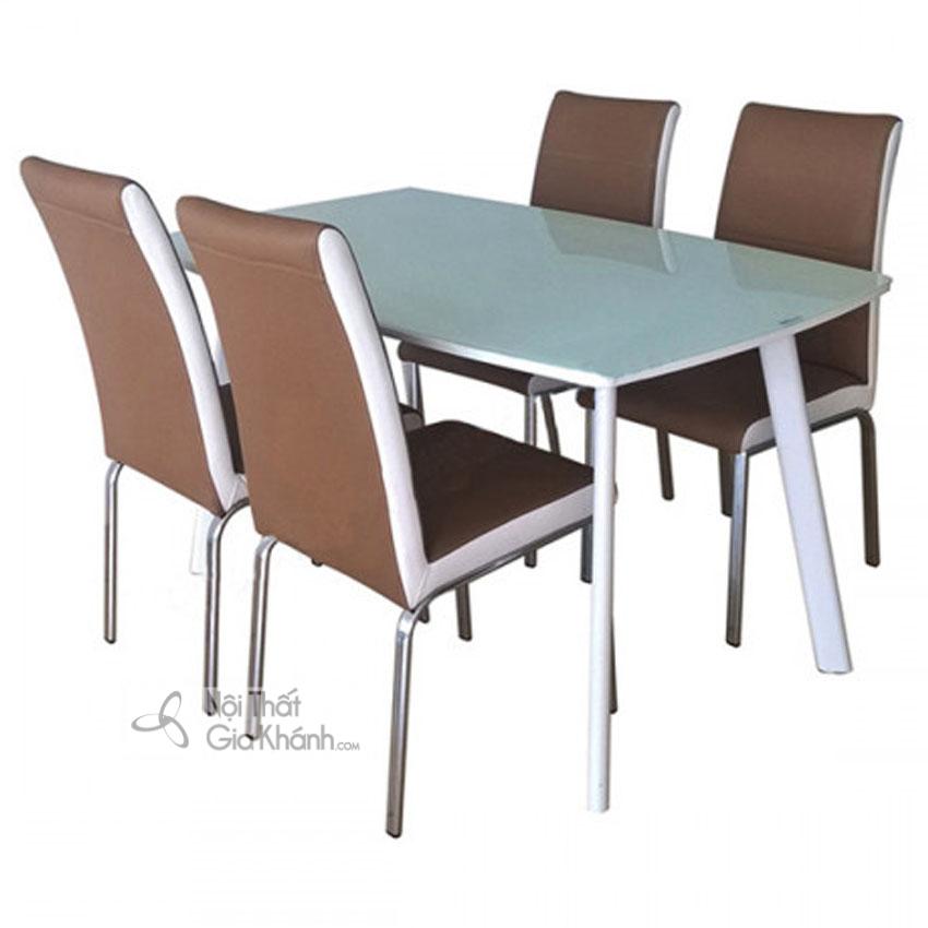 Những bộ bàn ăn 4 ghế đẹp và địa chỉ mua bàn ăn 4 người Hà Nội - bo ban an 4 ghe 1