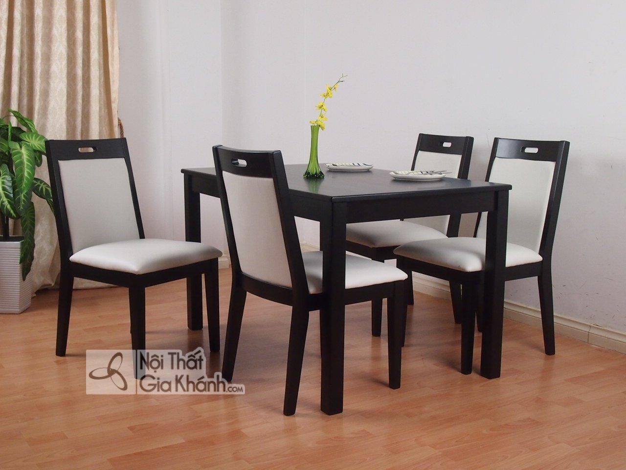 Những bộ bàn ăn 4 ghế đẹp và địa chỉ mua bàn ăn 4 người Hà Nội - bo ban an 4 ghe 2