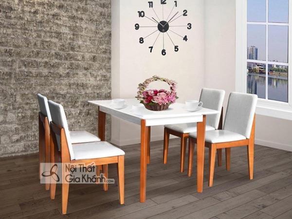 Những bộ bàn ăn 4 ghế đẹp và địa chỉ mua bàn ăn 4 người Hà Nội - bo ban an 4 ghe 3