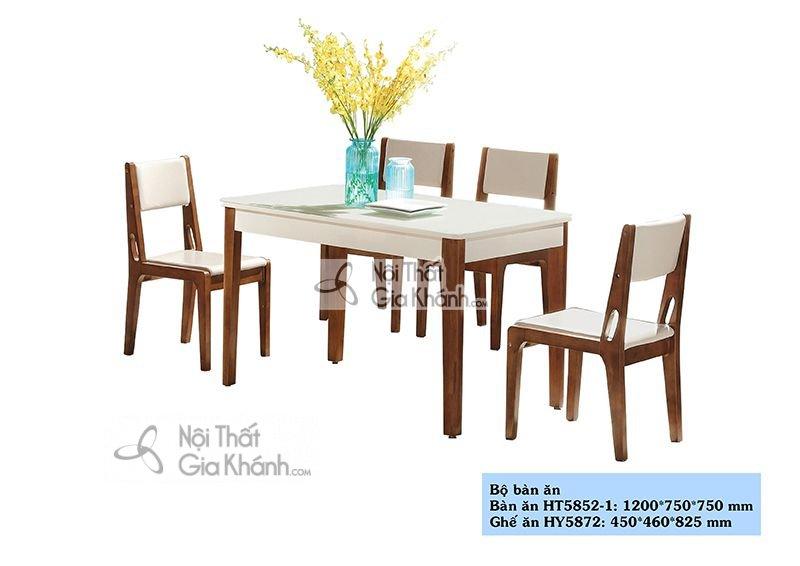 Bộ bàn ăn 6 ghế hiện đại, đơn giản