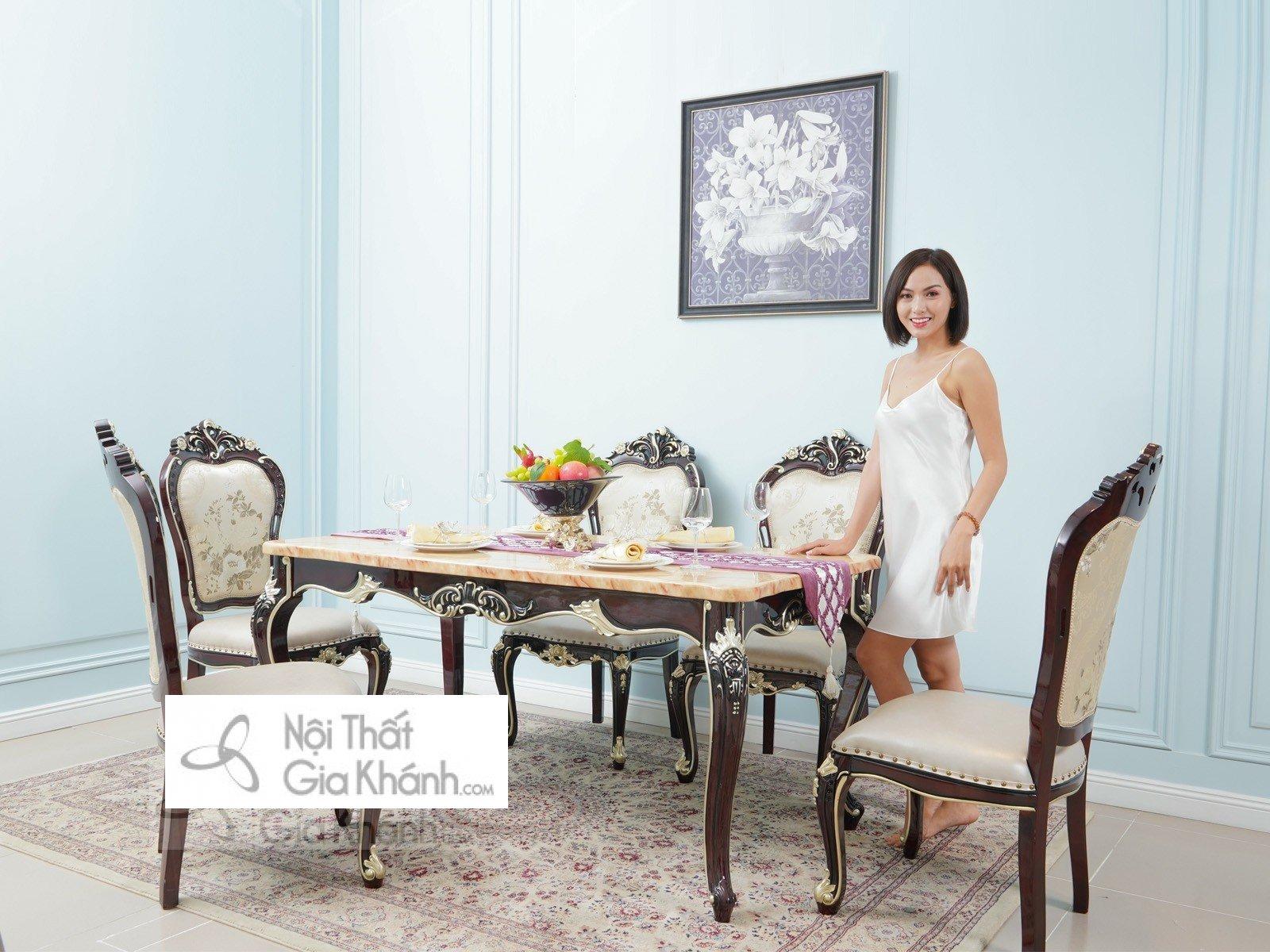 Bộ bàn ăn đẹp nhất theo phong cách tân cổ điển