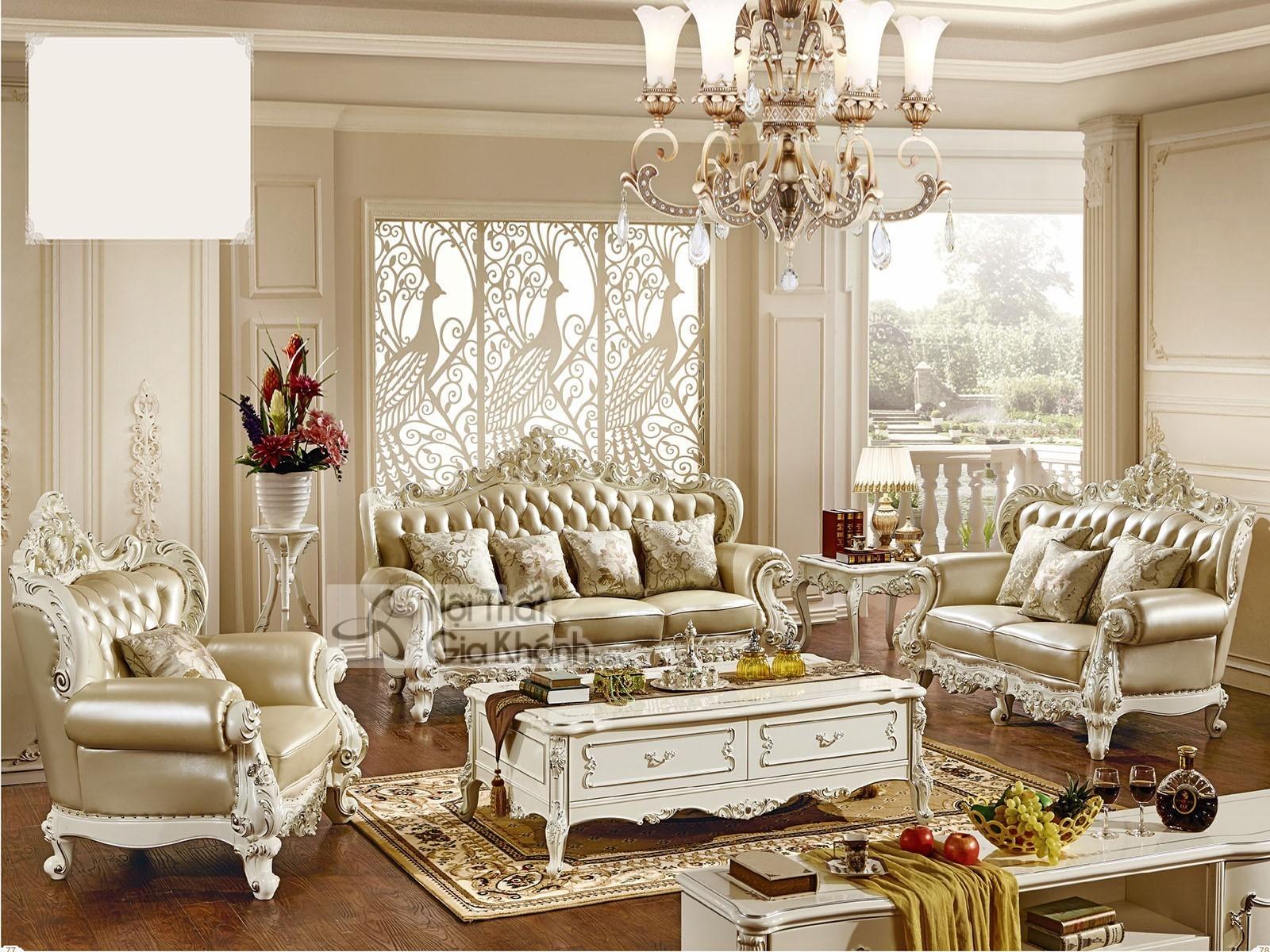 bo ghe sofa tan co dien sang trong cho phong khach sb931h 123 - Bộ ghế sofa tân cổ điển sang trọng cho phòng khách SB931H-123
