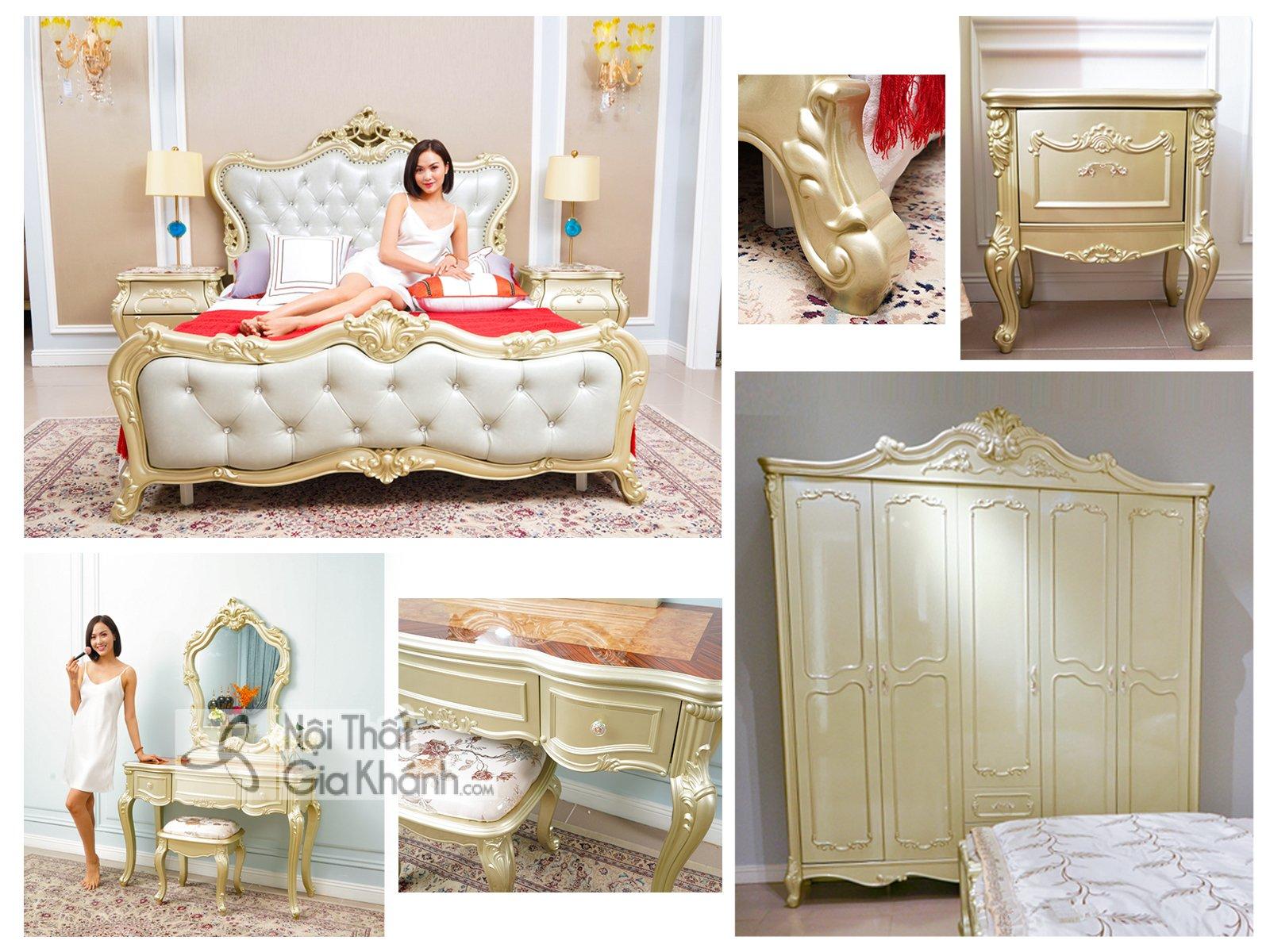 Bộ giường ngủ phong cách tân cổ điển GK88BG-03 - bo giuong ngu phong cach tan co dien gk88bg 03