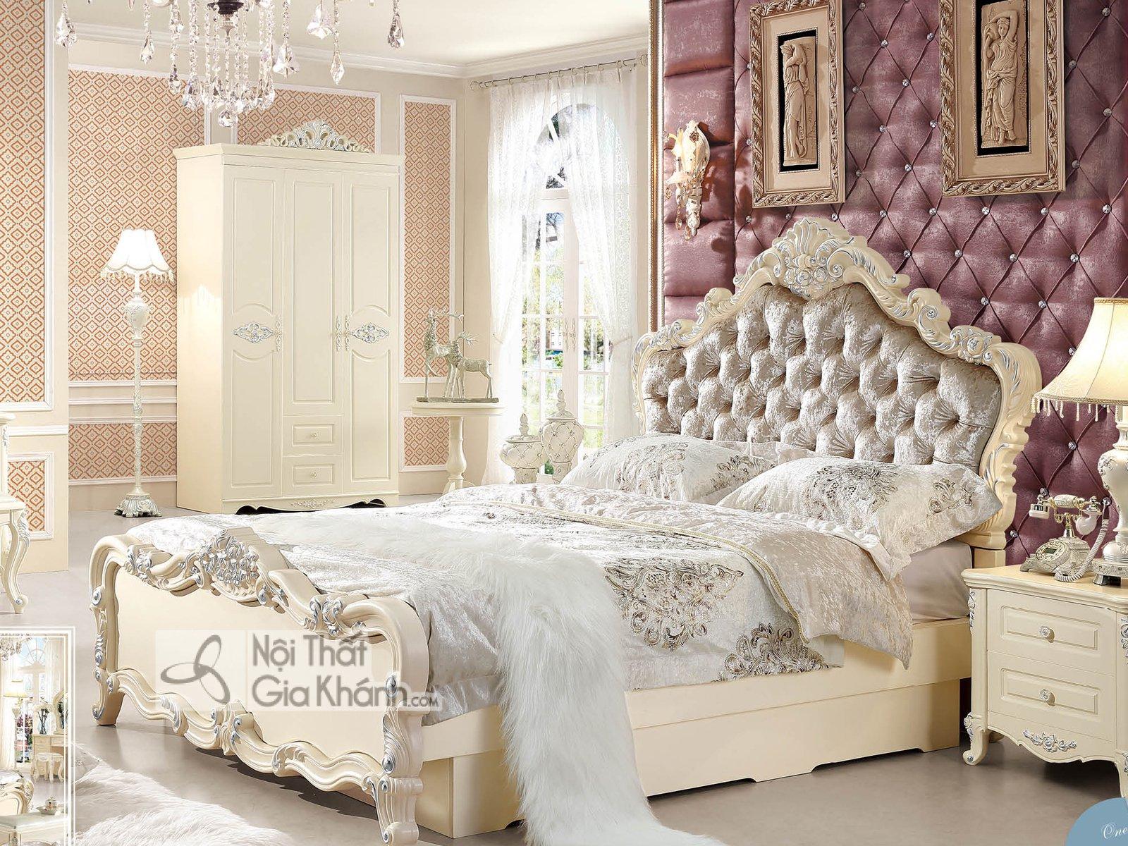 Bộ phòng ngủ tân cổ điển giá rẻ BH02BG - bo phong ngu tan co dien gia re bh02bg 3