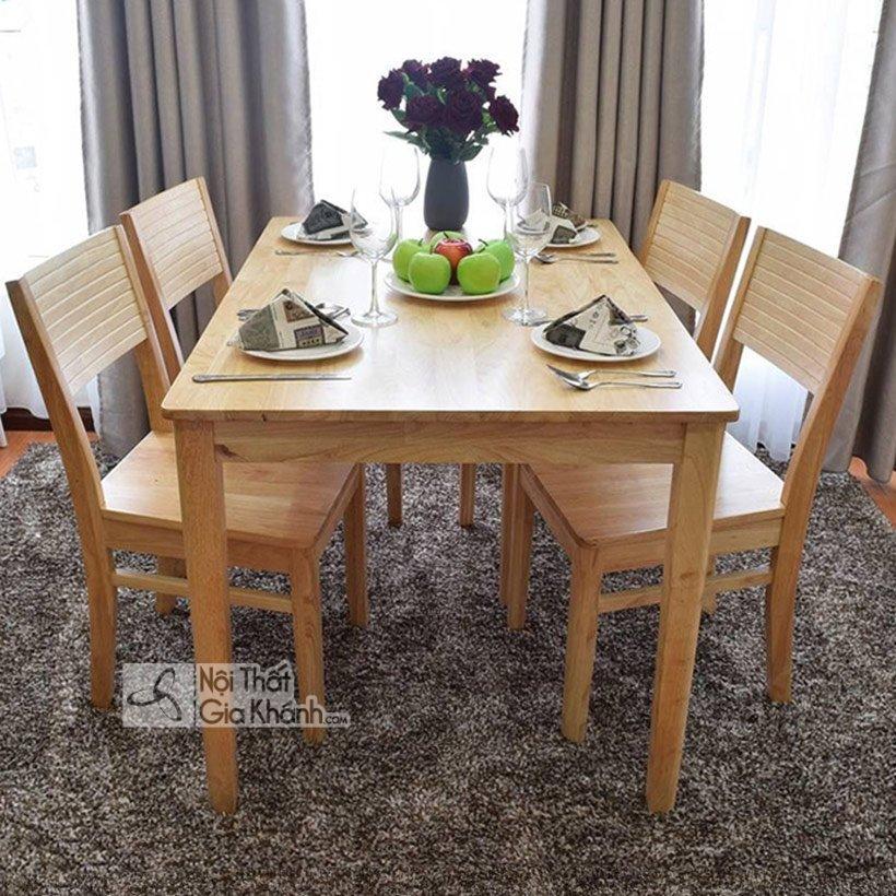 Đối với mẫu bàn ăn nhỏ 4 ghế