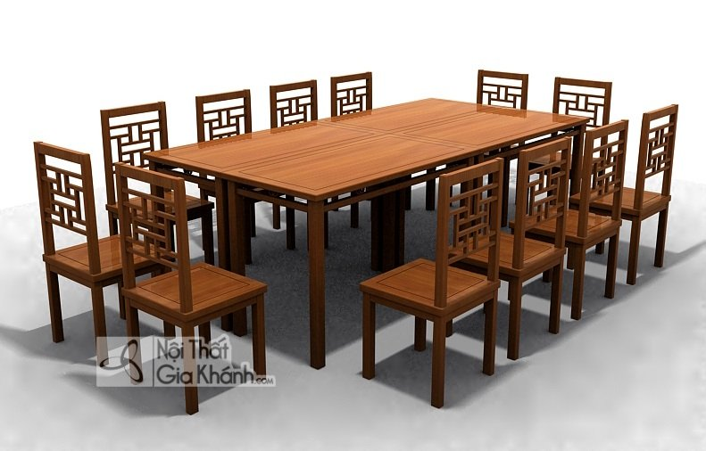 Kích thước bàn ăn 4 người, 6 người, 8 người, 12 người chuẩn 2019 - kich thuoc tieu chuan ban ghe an 4