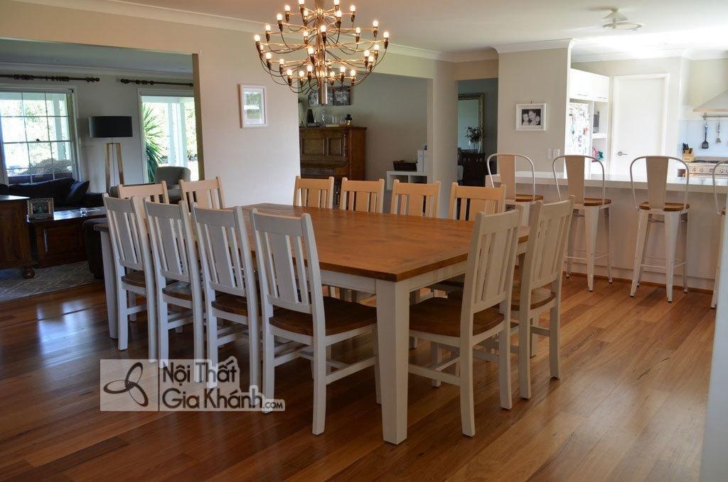 Bộ bàn ăn 12 ghế bề thế sang trọng và đẳng cấp - mau ban an 12 ghe 4