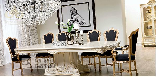 Bộ bàn ăn 12 ghế bề thế sang trọng và đẳng cấp - mau ban an 12 ghe 5