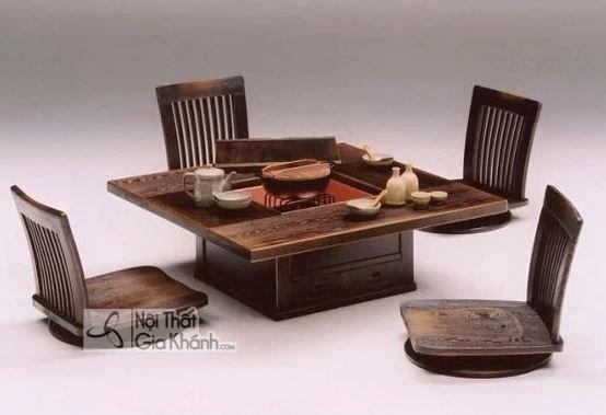 Mẫu bàn ăn ngồi bệt kết hợp bàn trà ngồi bệt có thiết kế đẹp xuất sắc - mau ban an ngoi bet co thiet ke dep xuat sac 2
