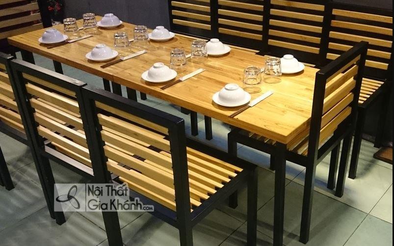 Mẫu bàn ghế quán ăn giá rẻ đẹp cho nhà hàng, khách sạn - mau ban ghe quan an dep cho nha hang khach san 1