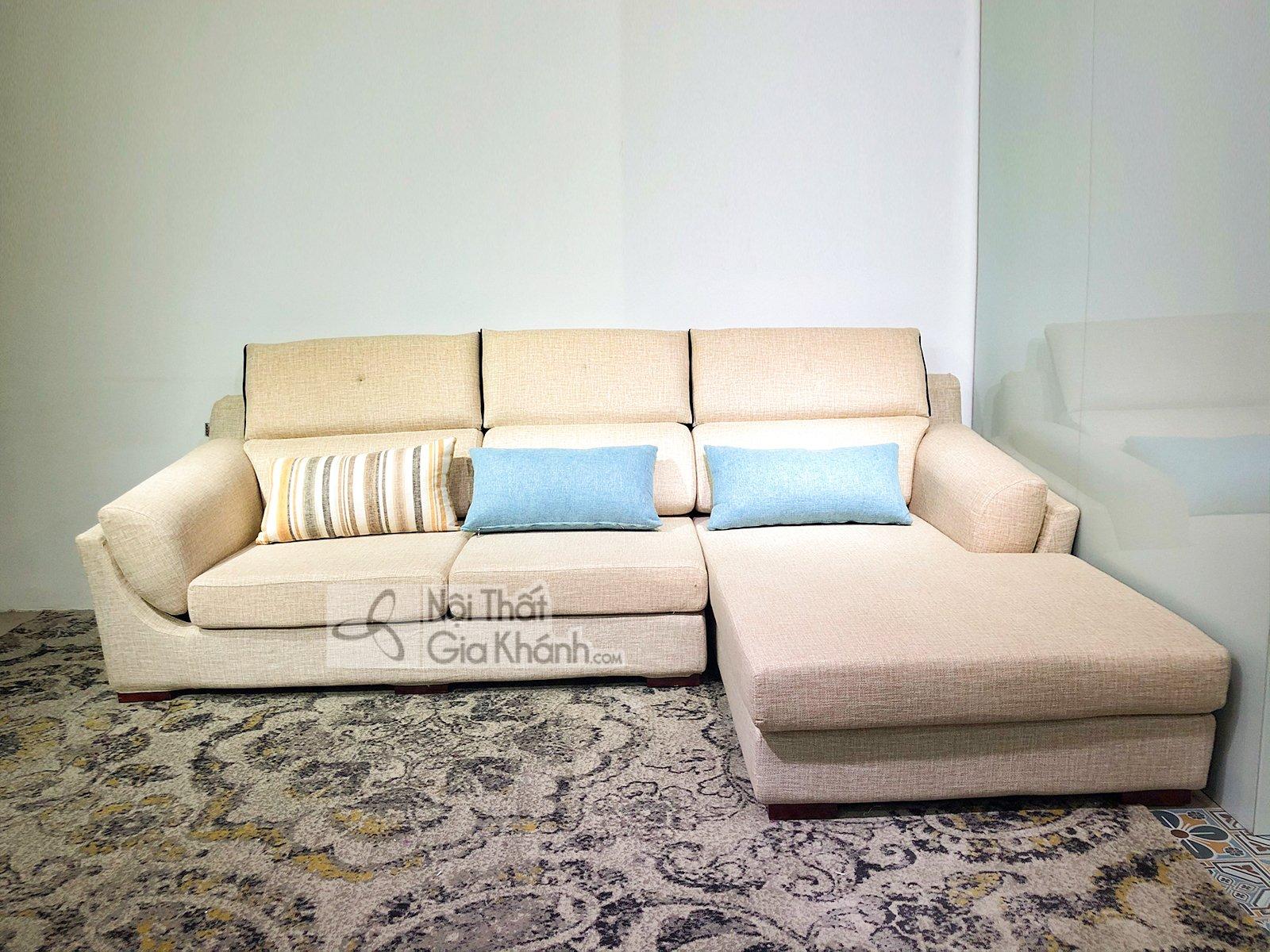 Sofa vải nỉ cao cấp nhập khẩu 2 băng 9001SF2GT - sofa chu l hien dai nhap khau cao cap ma 9001sf3gp 10