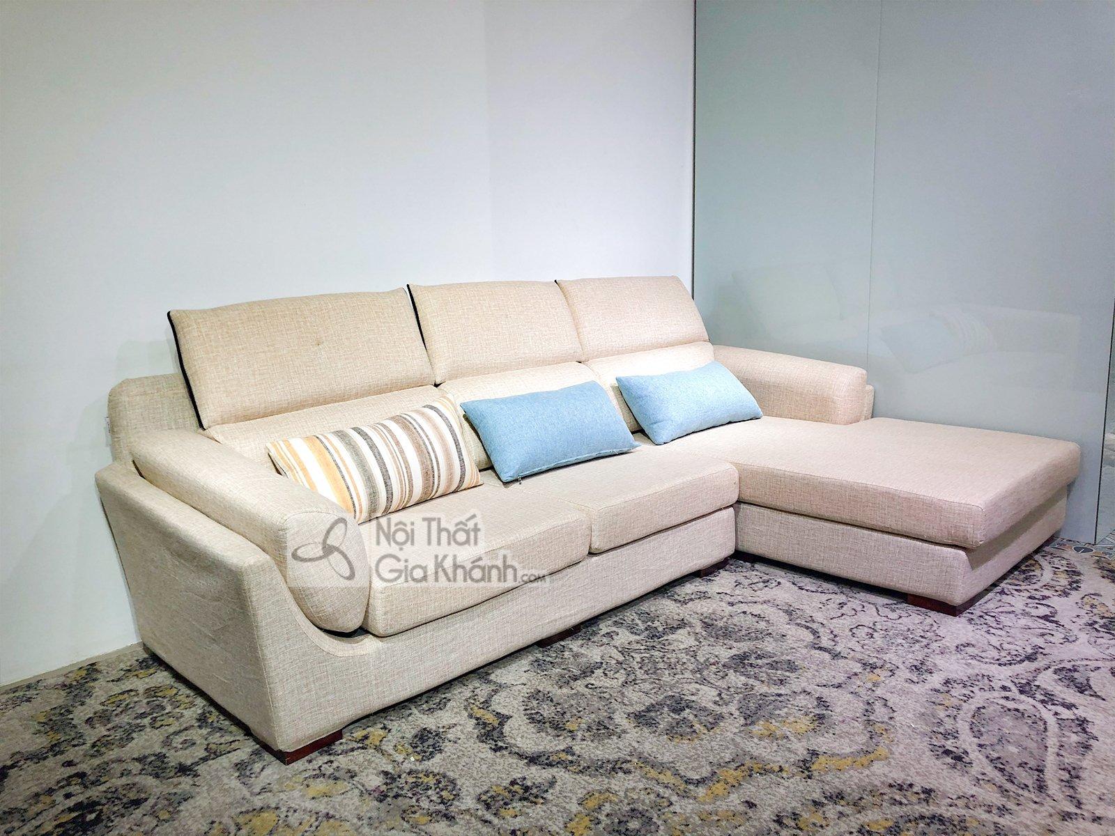 Sofa vải nỉ cao cấp nhập khẩu 2 băng 9001SF2GT - sofa chu l hien dai nhap khau cao cap ma 9001sf3gp 5