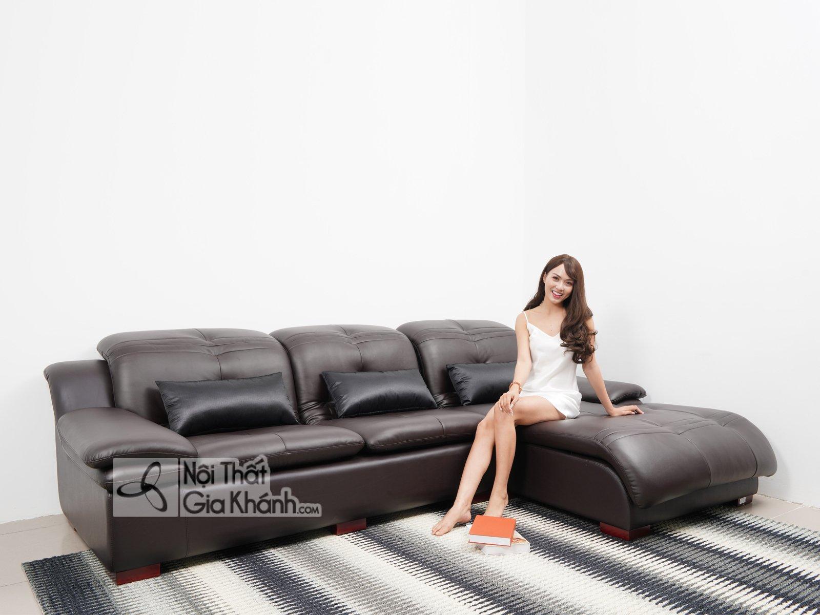 Sofa góc bằng da bò 2 băng nhập khẩu cao cấp SF902-2B - sofa da bo nhap khau cao cap sf902 2b