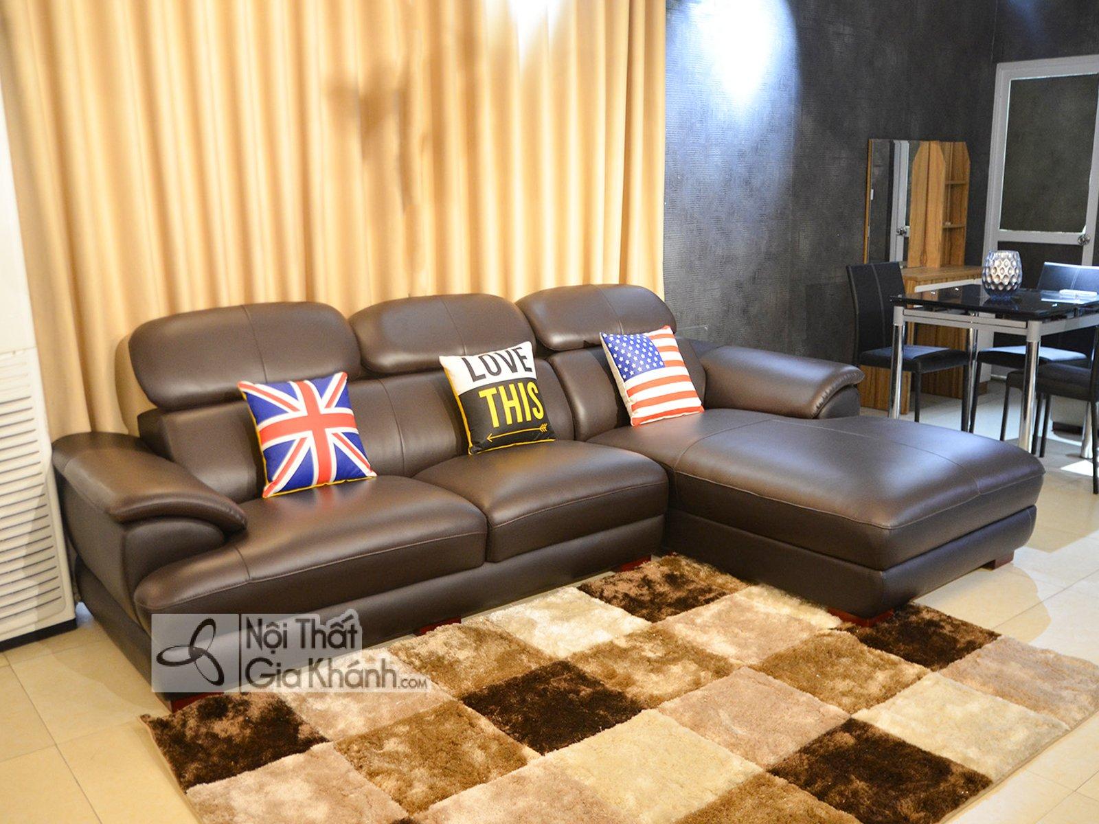 Sofa da góc chữ L hiện đại SF933-2B - sofa da hien dai cho phong khach sf933 2b 1
