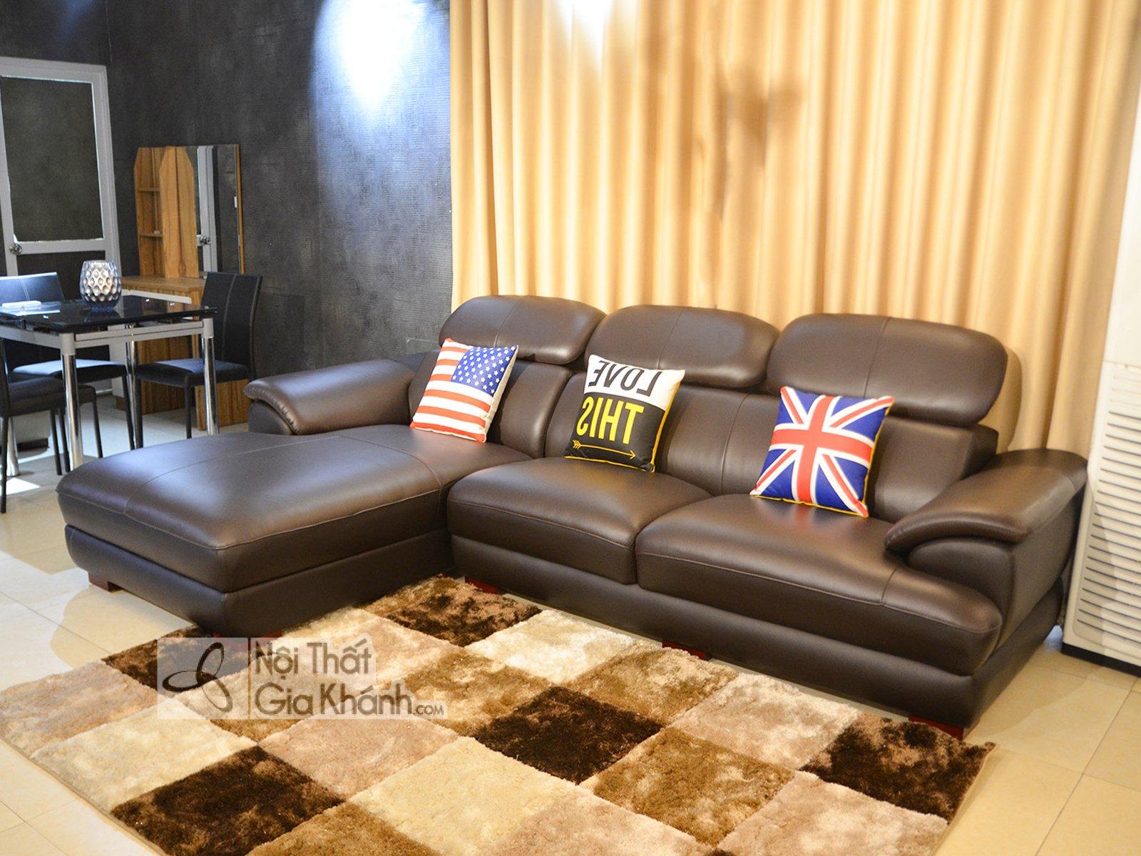 Sofa da góc chữ L hiện đại SF933-2B - sofa da hien dai cho phong khach sf933 2b